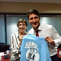 Suzy Kies et Justin Trudeau