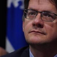 Visage de Sylvain Gaudreault, candidat à la chefferie du Parti québécois.