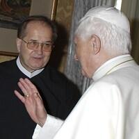 Tadeusz Rydzyk et l'ancien pape Benoît XVI en 2007