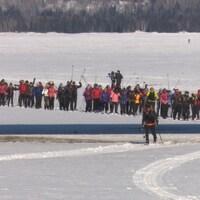 Les participants à la Traversée de la Gaspésie 2018 à leur arrivée à Gaspé