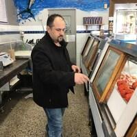 Un marché de poisson