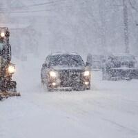 La neige est abondante à Rimouski.