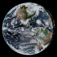 Une image captée par le satellite GOES-16.
