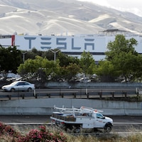 L'usine de Tesla, en Californie.