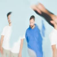 Une image un peu déformée montrant les deux membres du groupe, Guillaume et Jonathan Aldric.