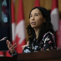 Theresa Tam, en conférence de presse.