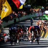 La ligne d'arrivée de la quatrième étape du Tour de France