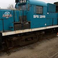 Le train sera transporté par  camion