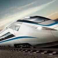 Interprétation artistique du train à haute vitesse entre Toronto et Windsor.