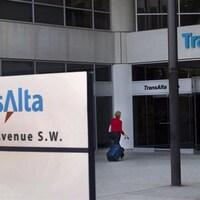 L'entrée du siège social de l'entreprise TransAlta.