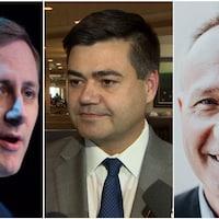 Brad Trost, Cory Tochor et Brad Redekopp, les trois candidats, à la nomination du Parti conservateur du Canada dans la circonscription Saskatoon-University.