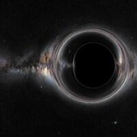 Illustration artistique de l'apparence d'un trou noir.