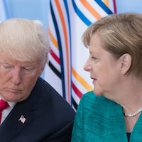Le président américain Donald Trump et la chancelière allemande Angela Merkel