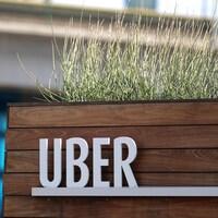 L'enseigne installée devant le siège social de Uber, en Californie