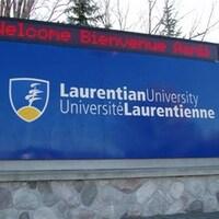 Une enseigne de l'Université Laurentienne.