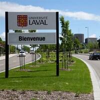 L'entrée de l'Université Laval