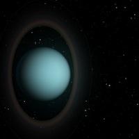 Représentation artistique des anneaux d'Uranus.