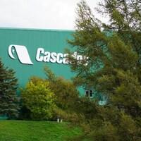 L'extérieur de l'usine de Cascades à Témiscouata-sur-le-Lac.