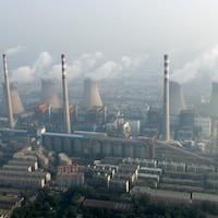 Vue aérienne d'une usine de charbon chinoise.