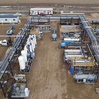 Une usine de purification d'hélium en Saskatchewan.