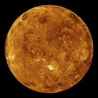 Vue globale de Vénus.