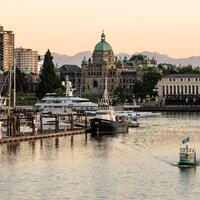 Victoria, la capitale de la Colombie-Britannique, située dans le sud de l'île de Vancouver.