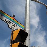 Coin des rues Church et Wellesley.