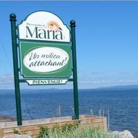 La ville de Maria est située dans la Baie-des-Chaleurs.