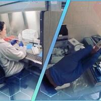 Des éprouvettes dans un laboratoire.