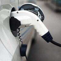 La borne de recharge d'une voiture électrique