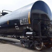 Un wagon DOT-111 à la sortie de l'usine National Steel Car de Hamilton