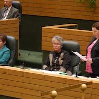 La députée de Takhini-Kopper King, Kate White.