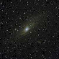 galaxie d'Andromède photographiée au Yukon