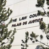 La façade extérieure du Palais de justice.