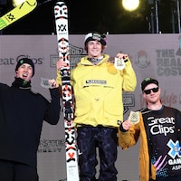 De gauche à droite : Alex Beaulieu-Marchand, Birk Ruud et James Woods