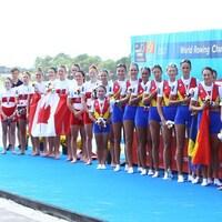 Les Canadiennes sur le podium des mondiaux d'aviron 2017