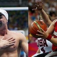 Montage de photos des deux athlètes