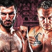 Deux boxeurs sur une affiche promotionnelle