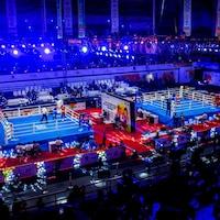 Le site des Mondiaux 2018 AIBA de boxe féminine avec ses deux arènes à New Delhi