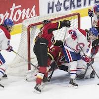 Les Canadiennes de Montréal à la Coupe Clarkson 2019 contre l'Inferno de Calgary.
