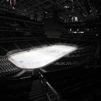 La patinoire de l'amphithéâtre des Capitals de Washington