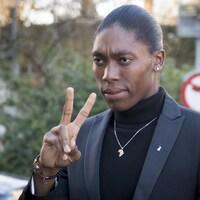 Caster Semenya à son arrivée au Tribunal arbitral du sport, le 18 février, à Lausanne