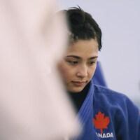 Christa Deguchi pensive lors d'un entraînement à Montréal