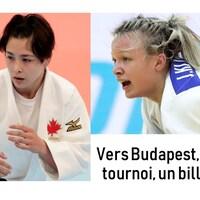 Une affiche montre deux judokas.