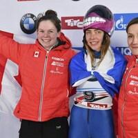 Elisabeth Vathje, Elena Nikitina (au centre), Mirela Rahneva