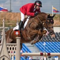 Éric Lamaze sur Chacco Kid aux Jeux équestres mondiaux