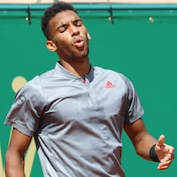 Il affiche un air déconfit lors de son match au Masters de Monte-Carlo.
