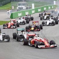 Le départ du Grand Prix du Canada en 2016