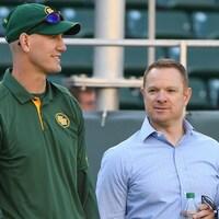 Jason Maas (gauche) et Brock Sunderland (droite)