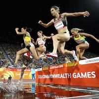 Geneviève Lalonde en action aux Jeux du Commonwealth.